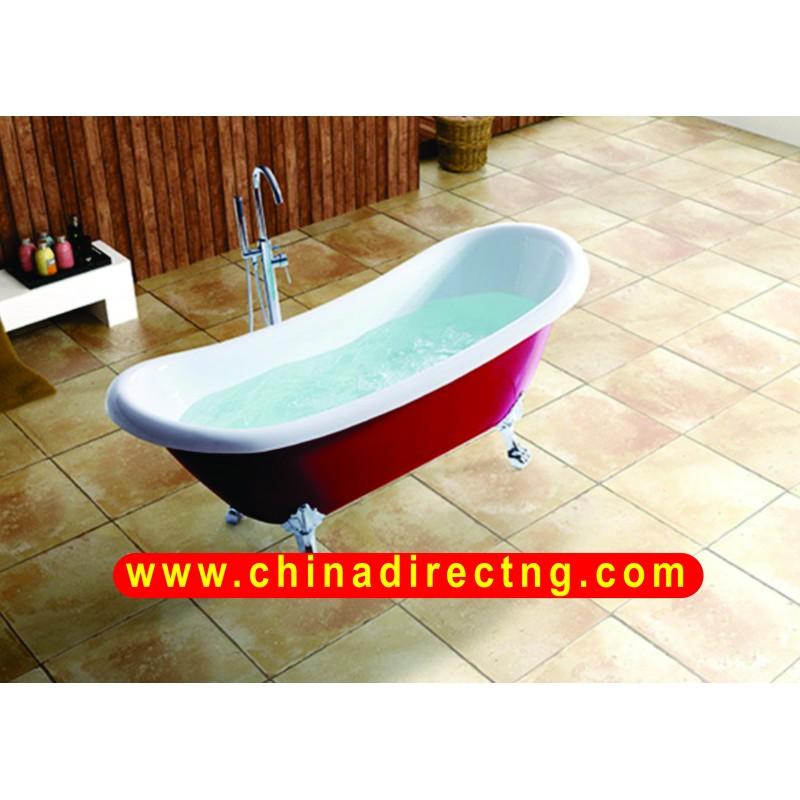 ANTIQUE FIBERGLASS ACRYLIC FREE STANDING CLAW FOOT BATH TUBS