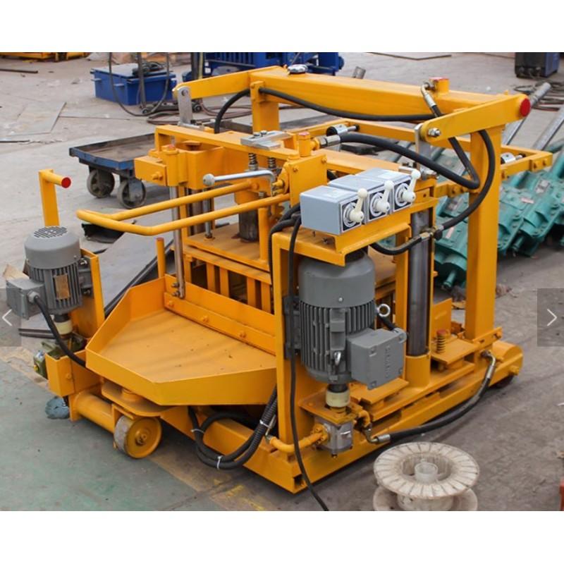 AUTOMATIC MOTORIZED BLOCK MOLDING MACHINE. BRICK MAKING MACHINE